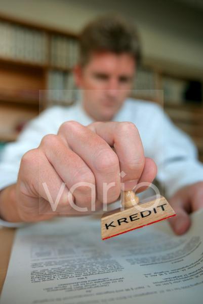 Stempel mit Aufschrift Kredit