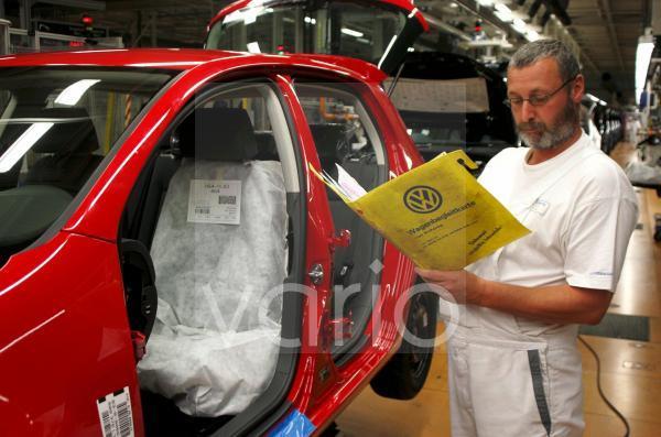 Produktion des VW Golf V