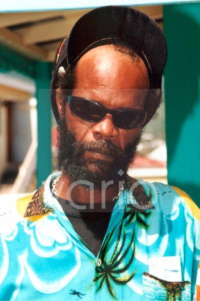 Portrait Reggae Sänger Watusi