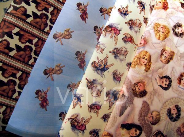 Geschenkpapier mit vielen Engeln