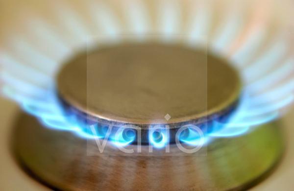 Brennender Gasherd