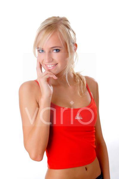 Model in Trainigskleidung