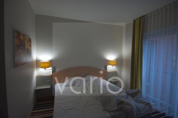 Hotelzimmer nach der ersten Nacht