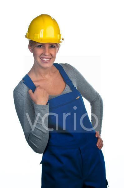 Bauarbeiterin
