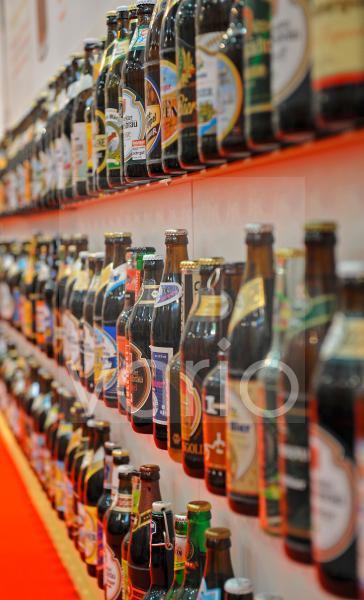 verschiedene Biersorten of der gruenen Woche in Berlin