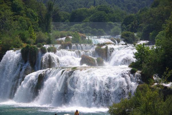 Wasserfälle von Skradinski buk, Krka Nationalpark, Sibenik, Dalmatien, Kroatien