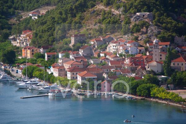 Blick auf Skradin, Krka Nationalpark, Sibenik, Dalmatien, Kroatien