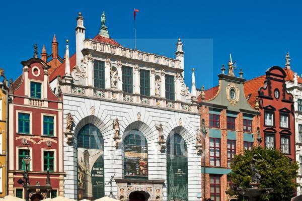Giebelhäuser in der Altstadt von Gdansk, Polen, EuropaGable house