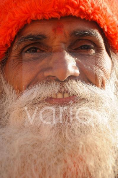 Closeup of indian man