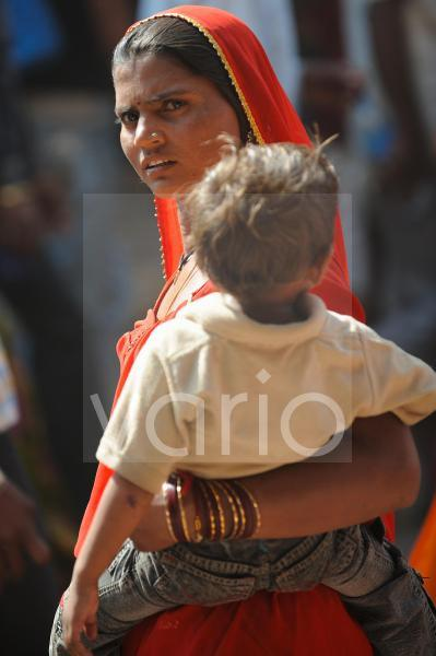 Indian mother and son