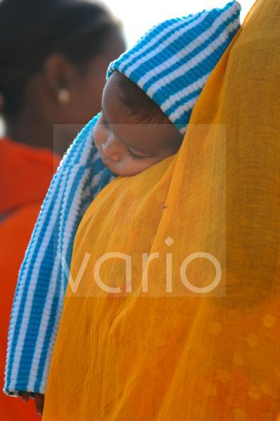 Indian woman with child