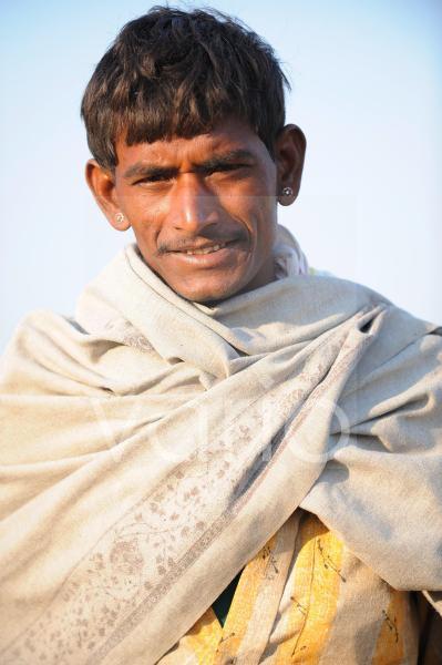 Portrait of camels herdsmen in Pushkar fair