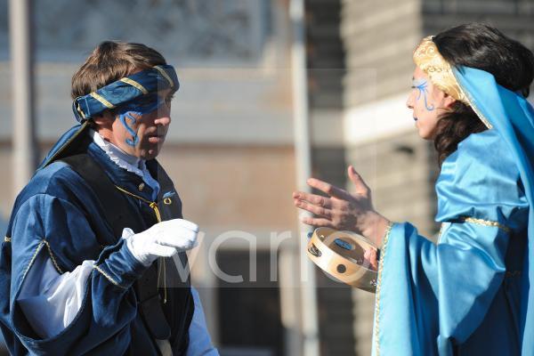 Couple in mask in carnival festival in Rome