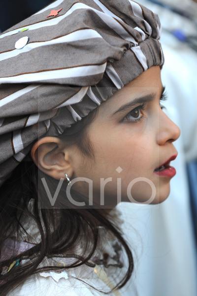 Little girl in Carnival festival in Rome