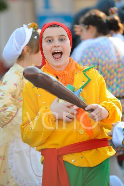 Boy in Carnival festival in Rome