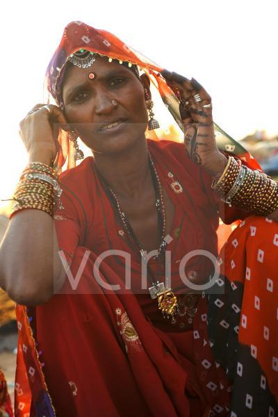 Woman wearing with traditional dress
