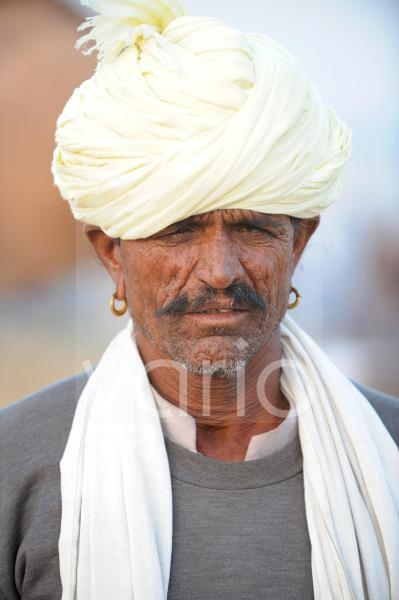 Indian man with turban and shawl