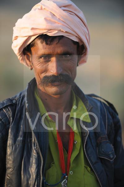 Indian camel shepherd
