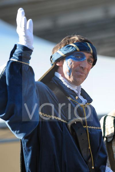 Man makeup in Rome carnival festival