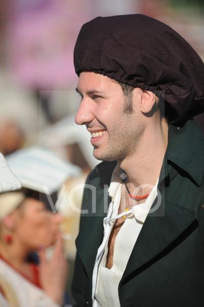 Young man in Rome carnival festival