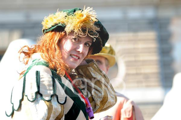 Woman dressed in carnival festival in Roma