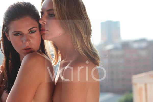 Close-up of a sexy lesbian couple
