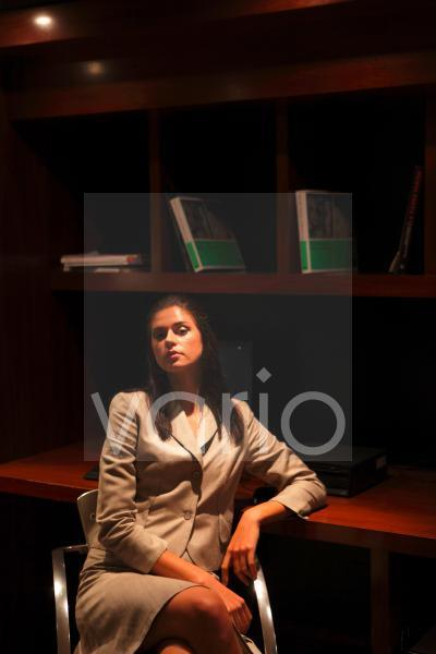 Portrait of a gorgeous young businesswoman contemplating