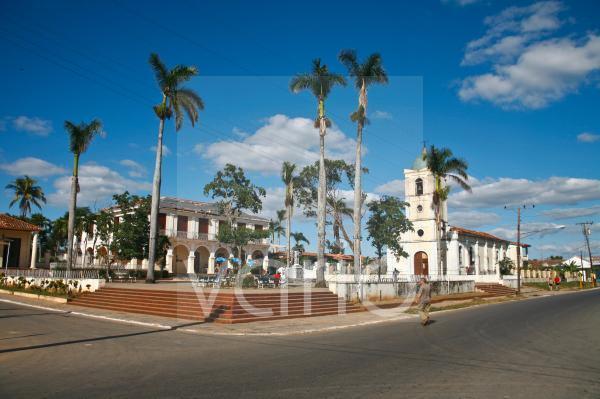 Ortsmitte in Vinales, Kuba, Große Antillen, Karibik