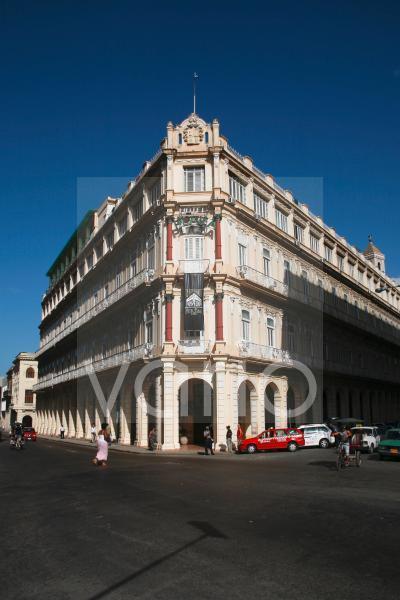 Das berühmte Hotel Plaza in Havanna, Kuba, Große Antillen, Karibik