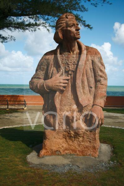 Christopher Columbus Statue in Baracoa, Kuba, Große Antillen, Karibik