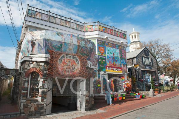 Bunte Geschäfte im Hippie-Stil, Provincetown, Cape Cod, Massachusetts, Neuengland, USA, Nordamerika, Amerika