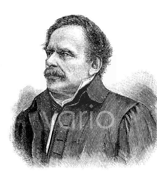 Johann Gottfried Eisenmann, 1795 - 1867, war Arzt, Politiker, politischer Publizist und medizinischer Schriftsteller, historischer Stich, ca. 1885