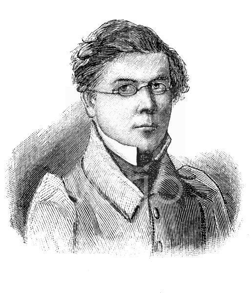 Fritz Reuter, 1810 - 1874, eigentlich Heinrich Ludwig Christian Friedrich Reuter, gilt als einer der bedeutendsten deutschen Dichter und Schriftsteller der niederdeutschen Sprache, historischer Stich,