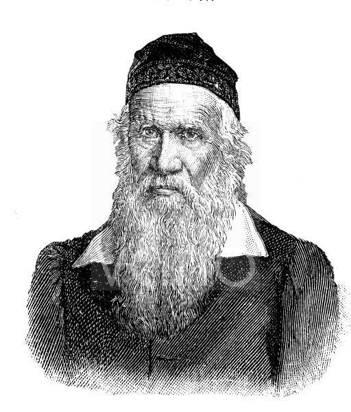 Friedrich Ludwig Jahn, auch Turnvater Jahn genannt, 1778 - 1852, war der Initiator der deutschen Turnbewegung, historischer Stich, ca. 1885