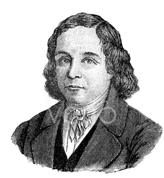 Johann Georg August Wirth, 1798 - 1848, ein deutscher Jurist, Schriftsteller und Politiker, historischer Stich, ca. 1885