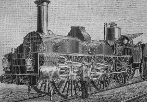 Lokomotive, System Estrada, Brasilien, Südamerika, historischer Stich, ca. 1885