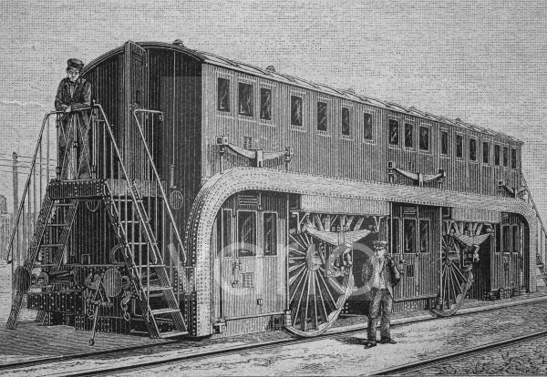 Personenwagen, System Estrada, Brasilien, Südamerika, historischer Stich, ca. 1885