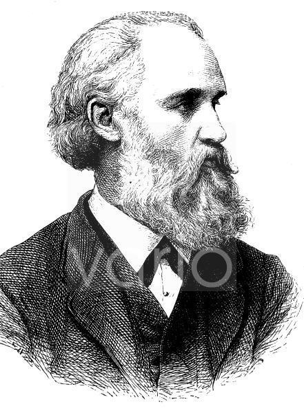 Wilhelm Lübke, 1826 - 1893, ein deutscher Kunsthistoriker, historischer Stich, ca. 1885