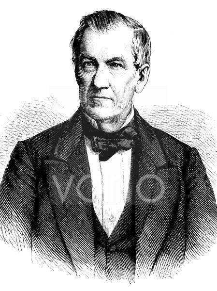 Johann Eduard Erdmann, 1805 - 1892, ein deutscher Professor der Philosophie und Schriftsteller, historischer Stich, ca. 1889