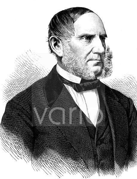 Anton Ritter von Schmerling, 1805 - 1893, ein österreichischer Politiker und Jurist, historischer Stich, ca. 1889