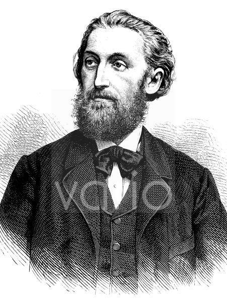 Wilhelm von Kardorff, 1828 - 1907, vollständiger Name Wilhelm Carl Friedrich August Hellmuth Ludwig von Kardorff, ein preußischer Politiker und Unternehmer, historischer Stich, ca. 1889