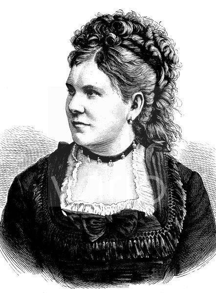 Vilma von Voggenhuber, 1841 - 1888, Sopranistin, historischer Stich, ca. 1889