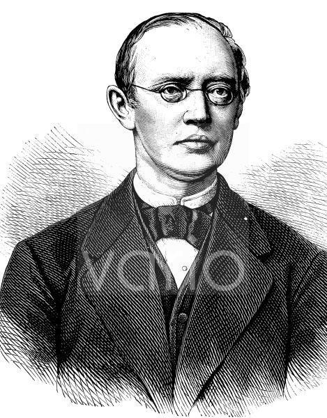 Friedrich Theodor von Frerichs, 1819 - 1885, ein deutscher Internist und Augenarzt, gilt als Begründer der experimentellen Klinischen Medizin, historischer Stich, ca. 1889