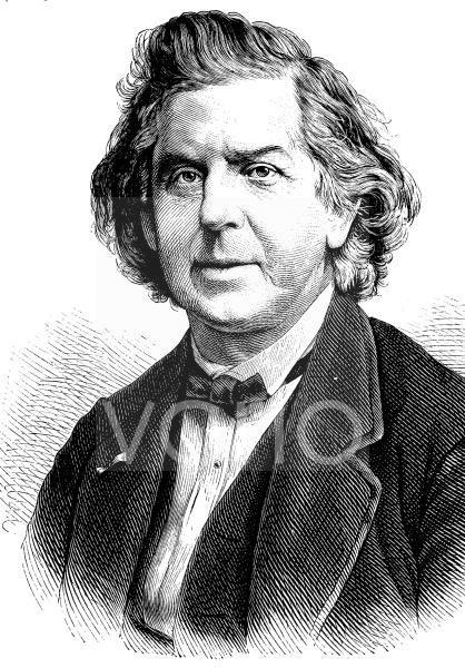 Niels Wilhelm Gade, 1817 - 1890, ein dänischer Komponist und Dirigent, historischer Stich, ca. 1889