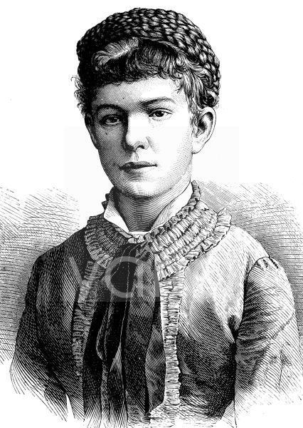 Erzherzogin Marie Valerie Mathilde Amalie von Österreich, 1868 - 1924, war Tochter des österreichisch-ungarischen Herrscherpaars Franz Joseph I. und Elisabeth, historischer Stich, ca. 1889