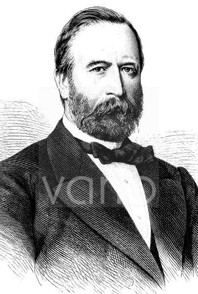 Ludwig Knaus, 1829 - 1910, war der erfolgreichste Wiesbadener Maler im 19. Jahrhundert, historischer Stich, ca. 1889