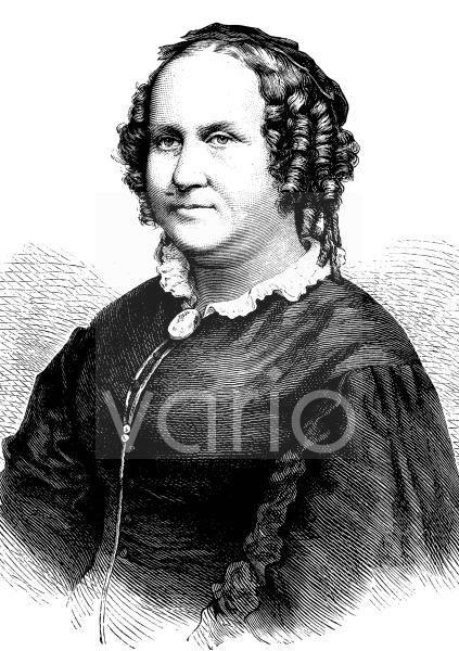 Thekla von Gumpert, verheiratete Thekla von Schober, 1810 - 1897, eine deutsche Kinder- und Jugendschriftstellerin, historischer Stich, ca. 1889