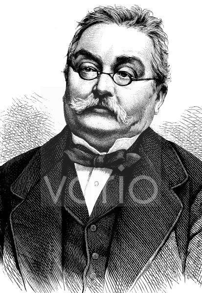 Ferdinand Ritter von Hebra, 1816 - 1880, ein österreichischer Dermatologe, wird als Begründer der wissenschaftlichen Lehre von den Hautkrankheiten angesehen, historischer Stich, ca. 1889