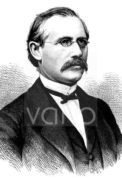 Friedrich Karl Theodor Zarncke, 1825 - 1891, ein deutscher Germanist, historischer Stich, ca. 1889