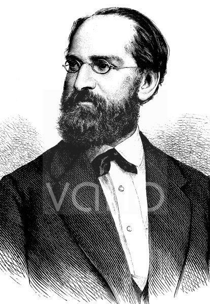 Joseph, Ritter von Weilen, 1828 - 1889, Schriftsteller, historischer Stich, ca. 1889